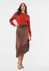 WE Fashion - A-line skirt - dark brown - 1