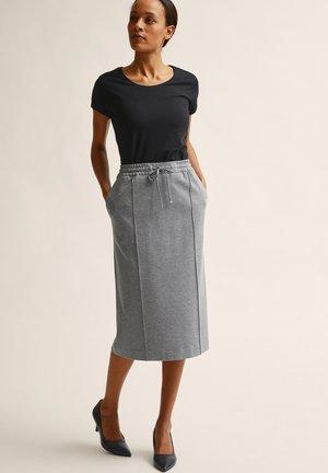 PETRA  - A-line skirt - grey melange