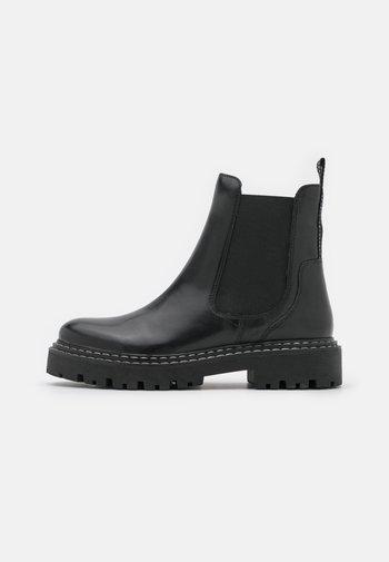 Korte laarzen - black/white