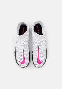 Nike Performance - PHANTOM GT ACADEMY DF TF - Astro turf trainers - white/pink blast/black - 3