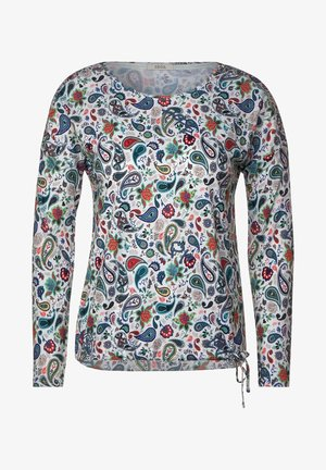 MIT PAISLEY-PRINT - Long sleeved top - weiß