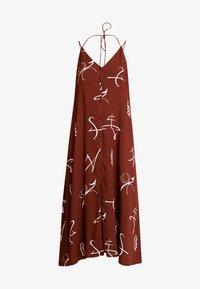 TUBA DRESS - Denní šaty - brown/offwhite