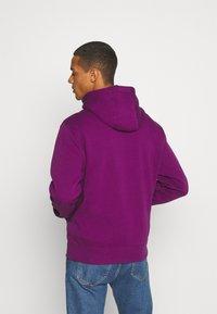 Nike Sportswear - CLUB HOODIE - Zip-up sweatshirt - viotech/viotech/white - 2