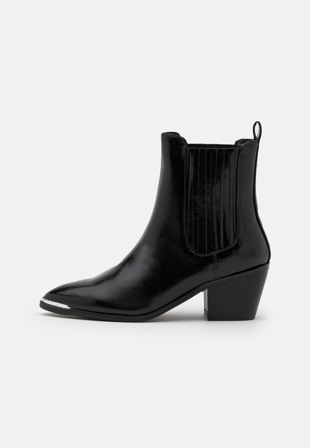 DARCY - Cowboy/biker ankle boot - black