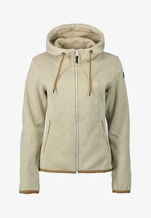 ADRIAN - Zip-up sweatshirt - beige
