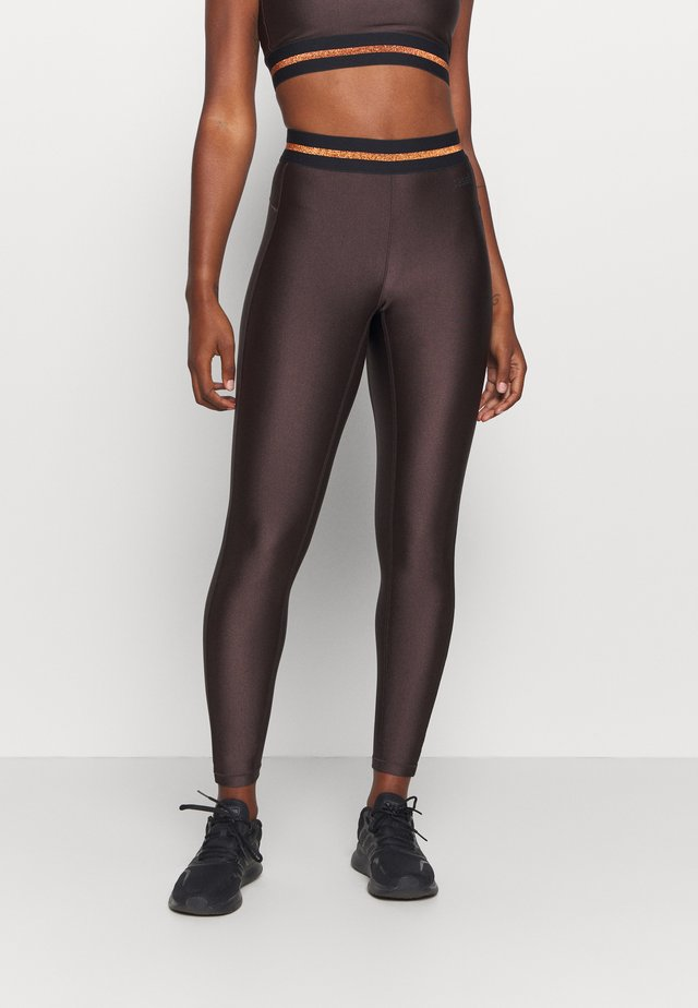 DEEP HIGH WAIST 7/8 - Leggings - powerful brown