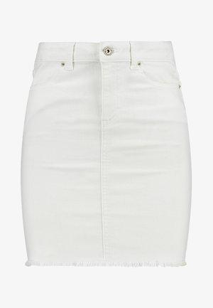 PCAIA SKIRT  - Denim skirt - bright white