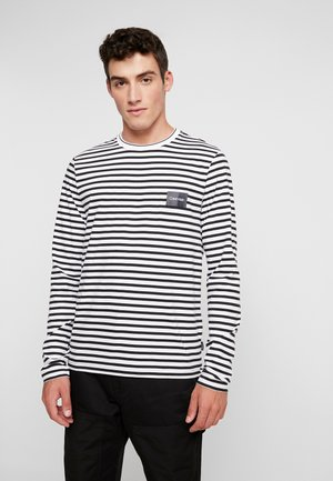 LIQUID TOUCH STRIPE LONG SLEEVE - Long sleeved top - white