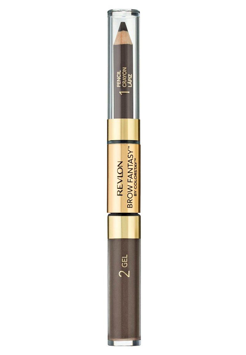 Revlon - BROW FANTASY PENCIL AND GEL - Eyebrow pencil - N°106 dark brown