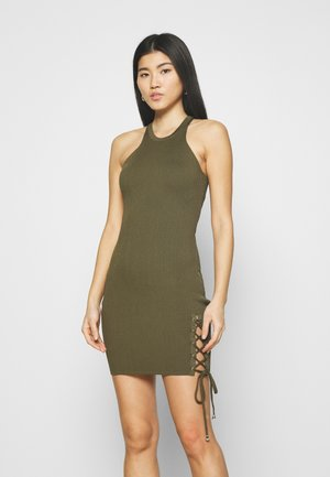 ALEXA TIE DRESS - Jumper dress - khaki