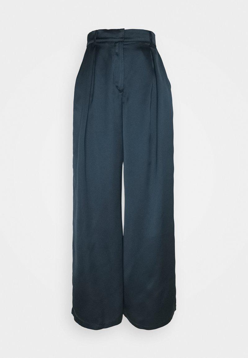NU-IN - PALAZZO PANTS - Kangashousut - blue
