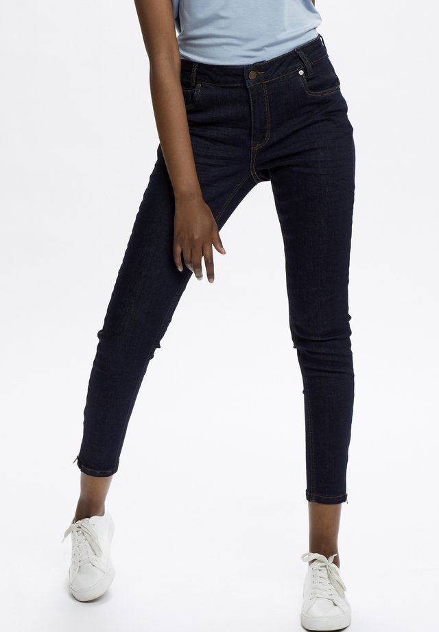 THE CELINAZIP TENNA  - Slim fit jeans - dark blue