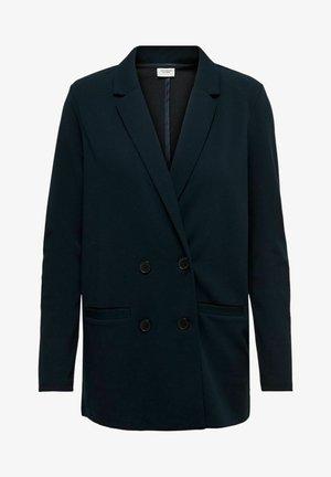 DOPPELREIHIGER - Short coat - mottled dark blue, dark blue