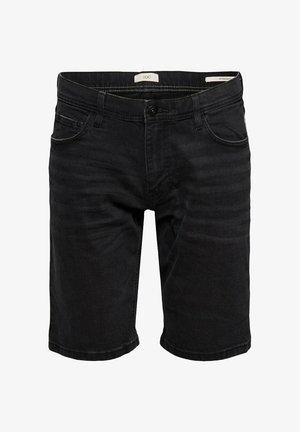 Denim shorts - black dark washed