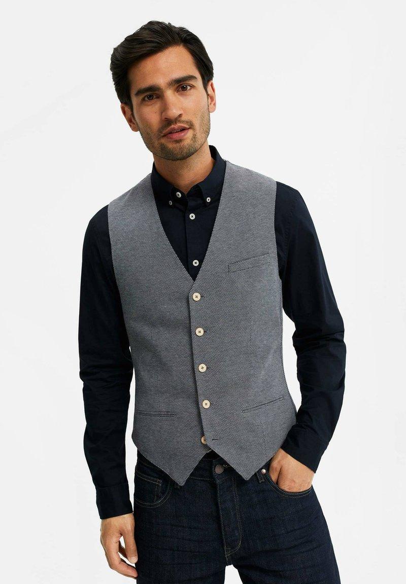 WE Fashion - MET STRUCTUUR - Bodywarmer - grey
