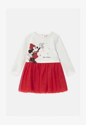 MINNIE - Korte jurk - bright white