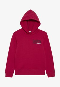 Calvin Klein Jeans - SMALL STAMP LOGO HOODIE - Jersey con capucha - pink - 2