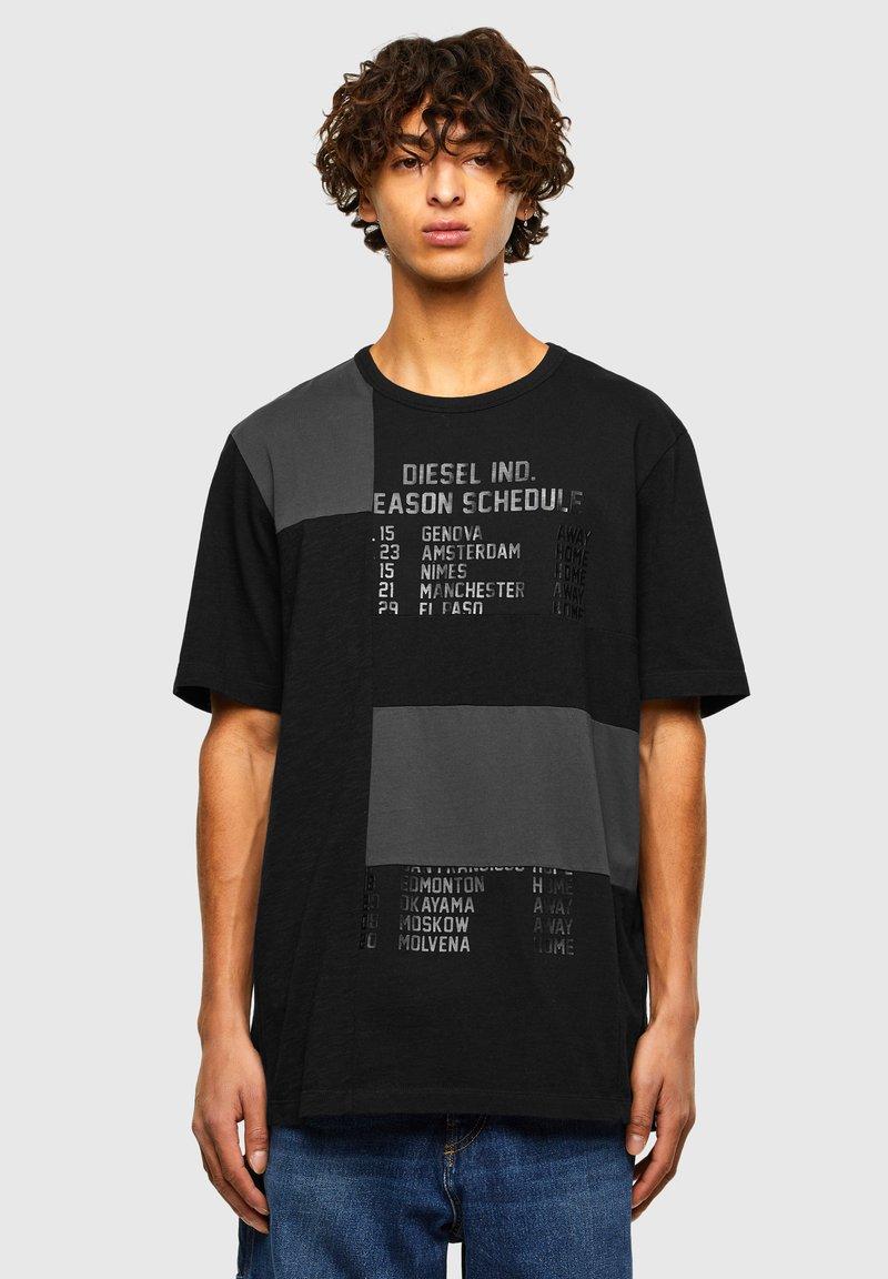 Diesel - ATCHWORK - Print T-shirt - black