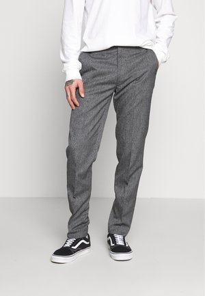 NEW SLIM CROSSHATCH - Bukser - grey