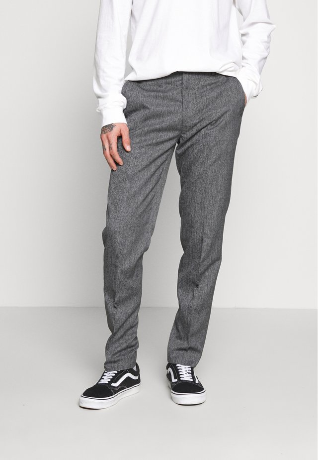 NEW SLIM CROSSHATCH - Bukse - grey