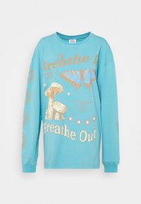 BDG Urban Outfitters - BREATHE IN BREATHE OUT SKATE - Maglietta a manica lunga - blue - 4