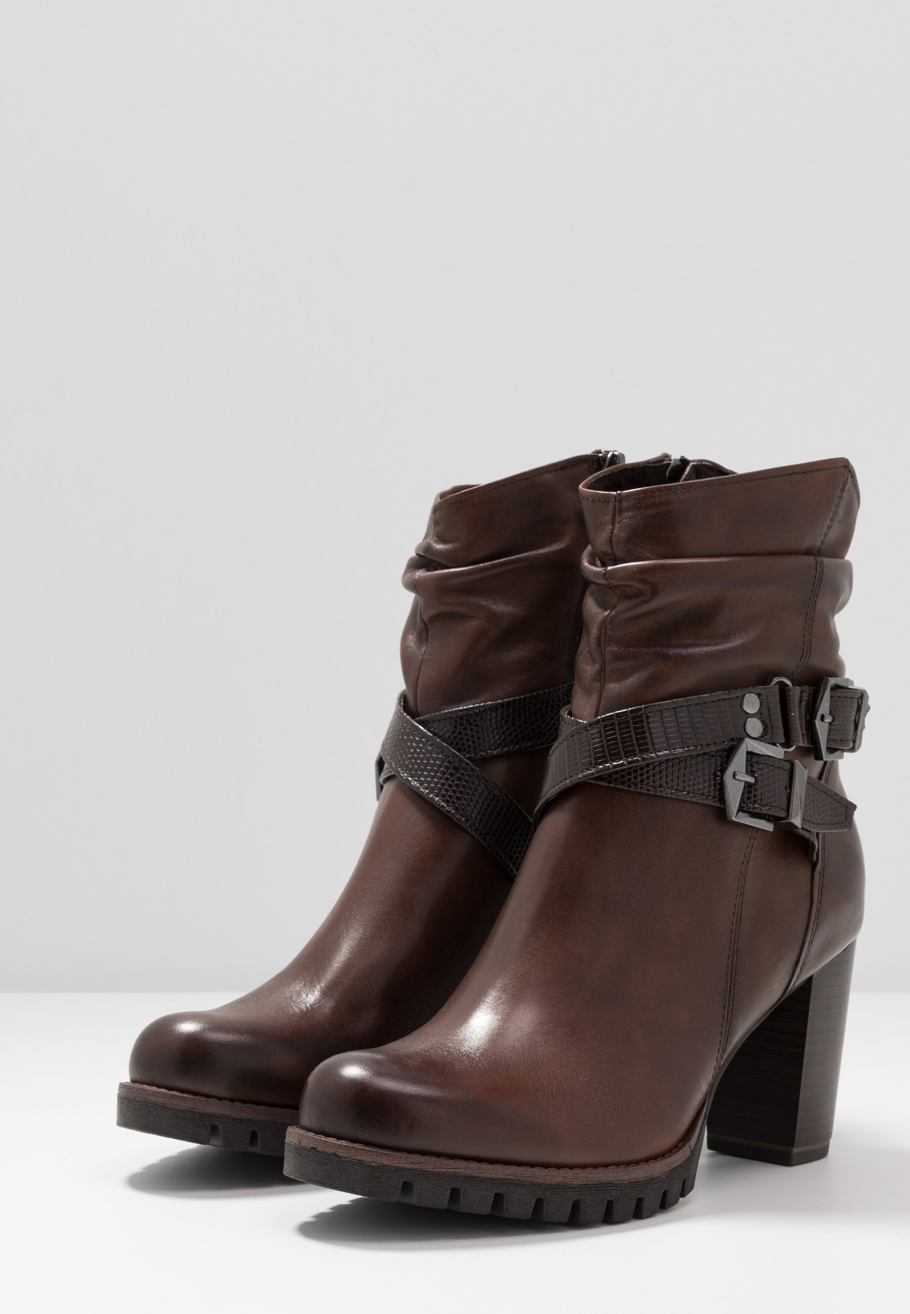 Buy Newest Fast Express Women's Shoes Marco Tozzi Cowboy/biker ankle boot cafe 4KbnIOm9R 74pYUyTRz