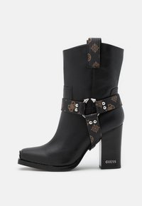 Guess - FLAVIA - High heeled ankle boots - brown/ocra - 1