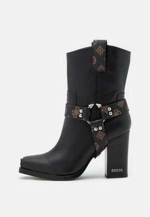 FLAVIA - Bottines à talons hauts - brown/ocra