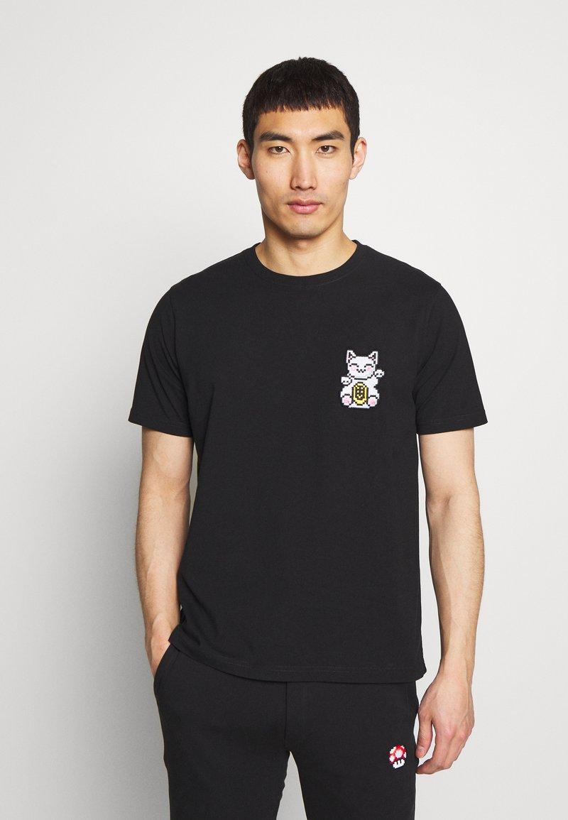 Bricktown - LUCKYCAT - T-shirt print - black