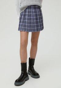 PULL&BEAR - MIT KELLERFALTEN - Áčková sukně - dark grey - 0
