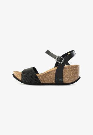 MAYA  - Sandaletter med kilklack - anthracite