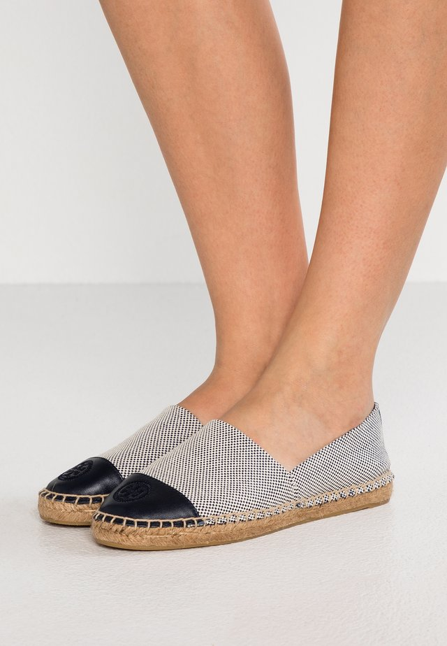 COLOR BLOCK FLAT - Espadryle - perfect navy