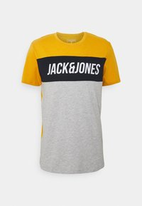 Jack & Jones - JCOTEMPTEE CREW NECK 3 PACK - T-shirt med print - navy blazer - 1