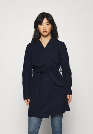VICOOLEY COLLAR BELT COAT - Classic coat - navy blazer