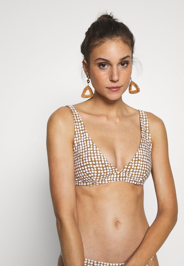 PARADISE COVE PLUNGE - Bikini top - gold