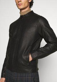 Jack & Jones - JJEWARNER JACKET  - Faux leather jacket - black - 5
