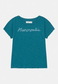 Abercrombie & Fitch - EMBROIDERED LOGO  - Print T-shirt - ocean depth - 0