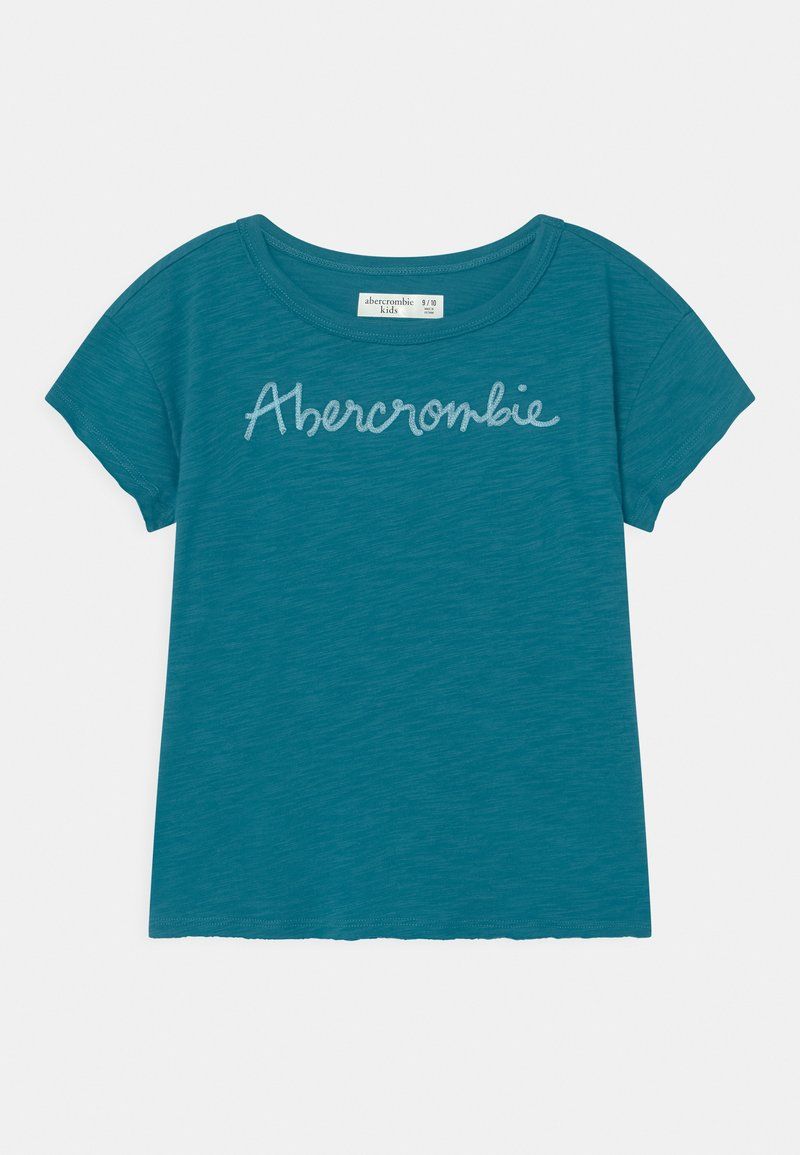 Abercrombie & Fitch - EMBROIDERED LOGO  - Print T-shirt - ocean depth