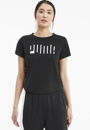 TRAIN LOGO TEE - Print T-shirt - black