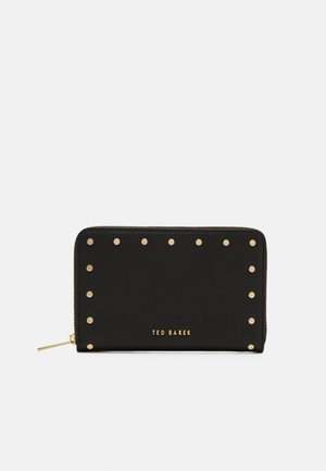 KIAANA STUDDED ZIP AROUND PURSE - Lommebok - black