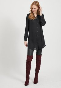 Vila - Button-down blouse - black - 1