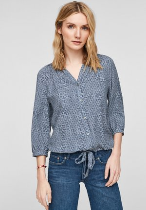 Blouse - faded blue aop