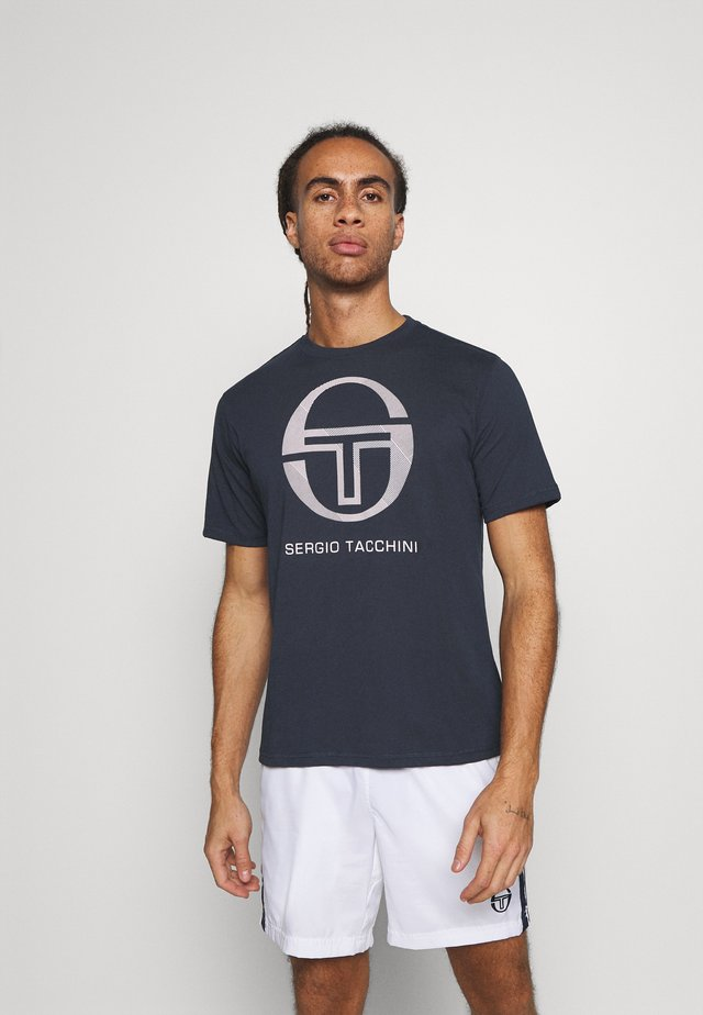 NEW ELBOW - T-shirt con stampa - navy/white