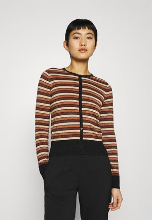 CARDI ROUNDNECK - Neuletakki - toffee brown