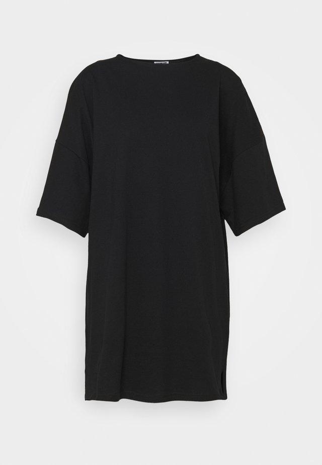 SHORT DRESS PETITE - Jersey dress - black