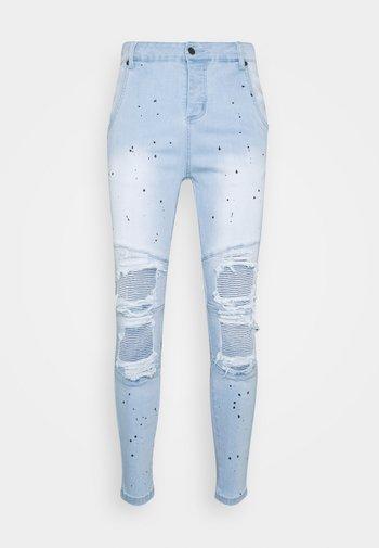 RIOT BIKER - Jeans Skinny Fit - washed blue