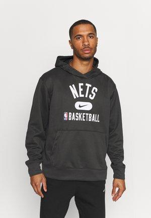 NBA BROOKLYN NETS SPOTLIGHT HOODIE - Felpa - anthracite