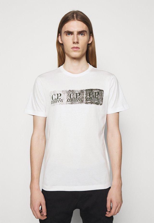 SHORT SLEEVE - T-Shirt print - gauze white