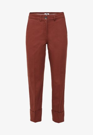 WE FASHION DAMENHOSE MIT HOHER TAILLE - Chinos - burgundy red