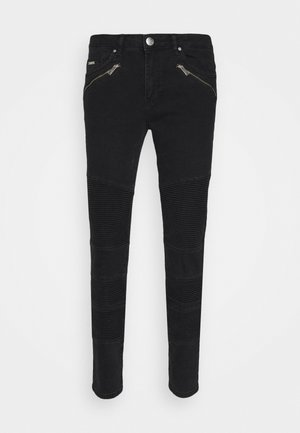 JEAN WASH WITH BIKER DETAIL - Jeans slim fit - black